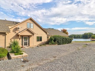 NEW LISTING! Lakefront, dog-friendly home w/beach, stunning views & picnic area