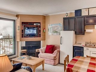 One bedroom with kitchen and bathroom next to the ski run cozy and affordable