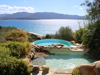 Corse du Sud/Golfe de Valinco- Villa 14 pers ou appt 6/8p- magnifique vue mer