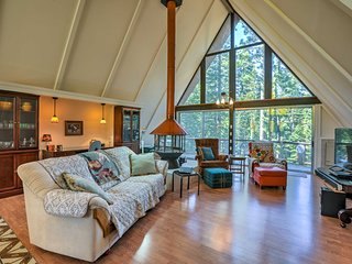 NEW! Secluded A-Frame Cabin 5 Min. to Lake Tahoe!