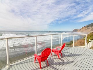 Roads End Oceanfront with Contemporary Styling Features Ocean-view Bedrooms