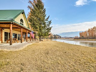 NEW-Kalispell Riverfront Home by Glacier Natl Park
