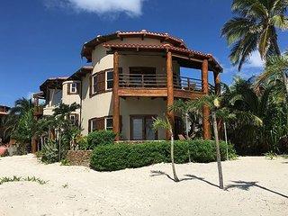 Designer Beach Villa steps from the Caribbean! Free Golf Cart*