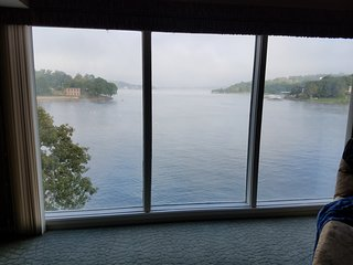 3 bed, 3 bath waterfront unit with amazing view, walk in level, 3 pools and slip