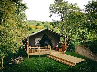 SAFARI TENT, cosy cabin style, near Rhayader