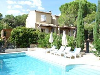 Maison de la Diversite, villa with heated pool walking distance to village