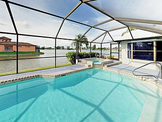 Colorful Canalfront Retreat with Heated Pool, Hot Tub & Lanai