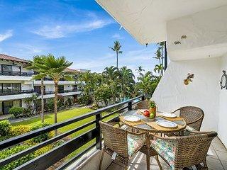 One Bedroom Condo with Lovely Garden & Partial Ocean Views, AC incl.
