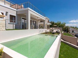 Upper view petit villa/ modern design, private pool, serenity, sleeps 8