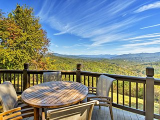 NEW! 4-Acre Bryson City Mtn Home w/ Deck & Grill!