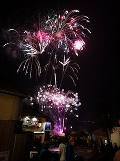 The front terrace is a great place to watch the harbour fireworks display.
