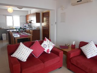 Comfortable air conditioned lounge enjoying stunning sea views