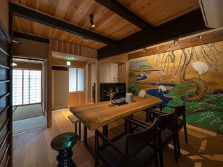Traditional Gion Machiya | Private Garden, Kitchen, Luxurious Bathroom