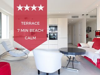 ☀️ Cannes basse Californie area ☀️ 2-bedroom apt with terrace, 8min beaches