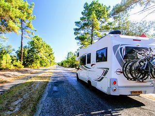 Our motorhome is converted to accommodate four people with extra space & comfort