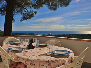 Holiday house with pool and spectacular sea views in Sant Cebria de Vallalta, Ba