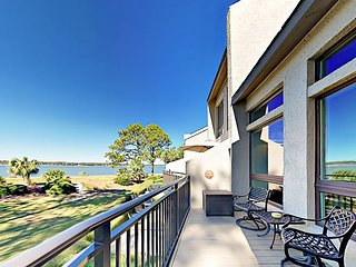 Luxe Waterfront Sea Pines 4BR/4BA Villa w/ Pool & Private Beach
