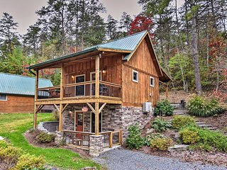 'Chantarelle' Cabin w/ Hot Tub - Near Asheville!