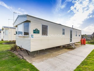 8 berth caravan near park amenities. At Broadland Sands.*Pets allowed. REF 20136