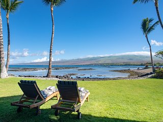 Oceanfront, Steps from sand, Comfort & luxury, Estate Home at Puako Bay 10D