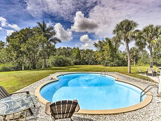 NEW! N. Fort Myers Home w/Pool, Fire Pit & Hammock