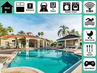 Best of Both Worlds★Marvelous Bright Affordable Villa★Spa+Game Room