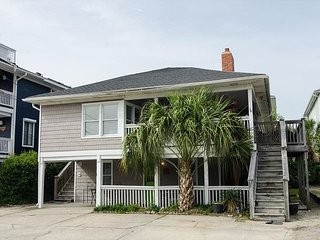 Classic family friendly oceanside duplex with wraparound porch
