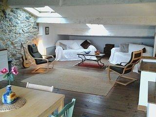 Roof terrace, spacious loft apartment near Grand Canal