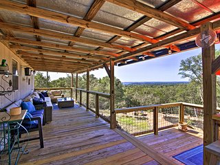 NEW! Private Hill Country House w/Deck on 7 Acres!