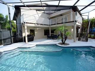 Beachside Amazing Living - Huge House w Heated Pool! Walk to Beach! Sleeps 16!