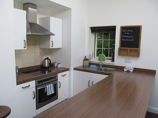 Well equipped kitchen with oven, hob,  fridge freezer and microwave. Breakfast pack also included.