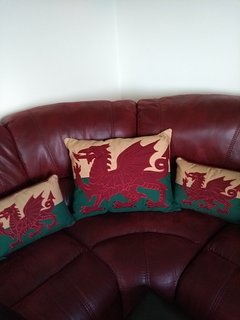 A touch of Welsh to the living room...
