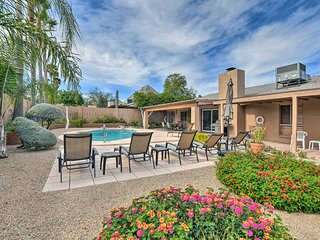 NEW! Phoenix Home w/ Heated Pool & Mountain Views!
