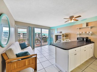 NEW LISTING! Rare one-bedroom w/shared pool & beach view - steps from beach
