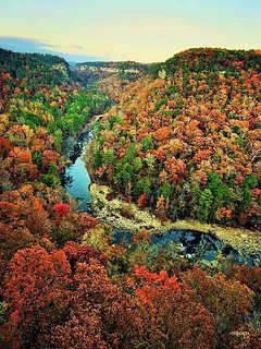 Fall at Little River Canyon
