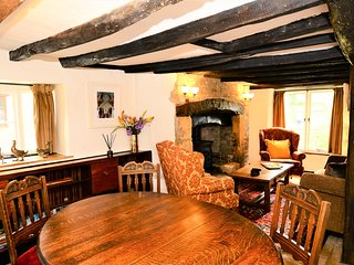 Well Cottage, a detached C16th Cottage with parking, full of charm & character!