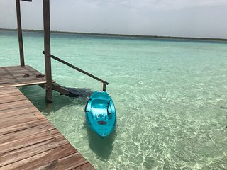 Bacalar Copal - Private Cabin for 4 in Bacalar with your own deck!