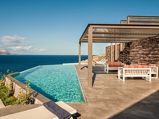 luxury, seaview, above the Cretan Sea, pool, sleeps 10 guests