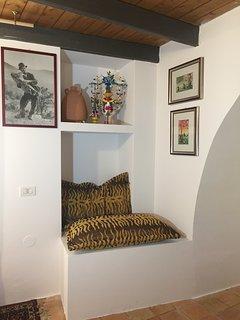 dettagli decorativi nella stanza da letto a piano terra