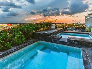 New Penthouse, Rooftop Terrace, Jacuzzi & Mayan Jungle by the Caribbean Sea