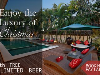 UNLIMITED BEER!! 4 BR/4BTH*SEMINYAK*BOOK NOW PAY LATER!!