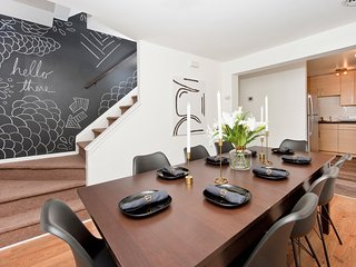 Stylish Three Story Townhouse with Backyard - 10 Minutes to NYC!