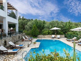 Villa Siora Elena with breathtaking views of the open Ionian Sea...