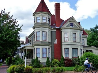 The Gregory Mansion a huge Victorian Home & architectural landmark in So Maine