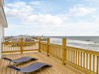 NEW LISTING! Gulf-front home w/multiple decks & amazing views steps from beach