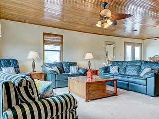 NEW LISTING! Spacious home w/ideal location for exploring beach & deck