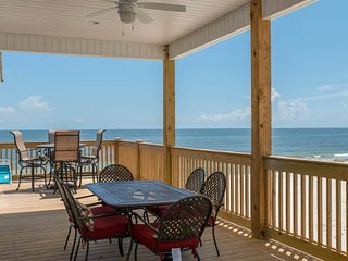NEW LISTING! Waterfront, dog-friendly home -steps from beach w/great deck space