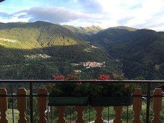 romantico attico vista montagne