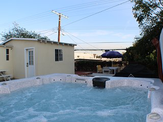 Yard & hot tub access with guest studio