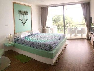 Chambre double 'JADE' vue mer piscine Koh Samui